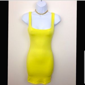 naked wardrobe Dresses - Sexy Naked Wardrobe neon yelow dress